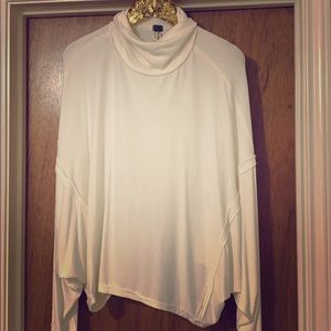 Free people comfy white turtleneck long sleeve top